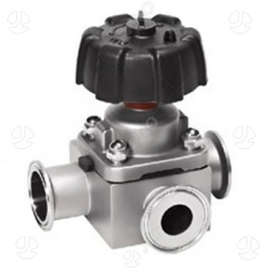 Hygienic 3 Way Clamp Manual Stainless Steel Diaphragm Valve