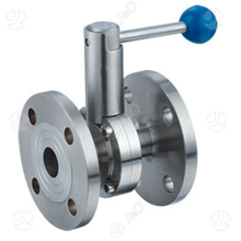 Sanitary Stainless Steel Butterfly Valve with Flange Flange Ends