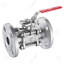 3PC Stainless Steel Flanged Ball Valve with Direct Mounting Pad