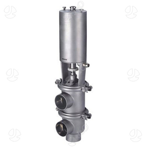Sanitary Pneumatic Welded End Divert Valve with Ss Actuator