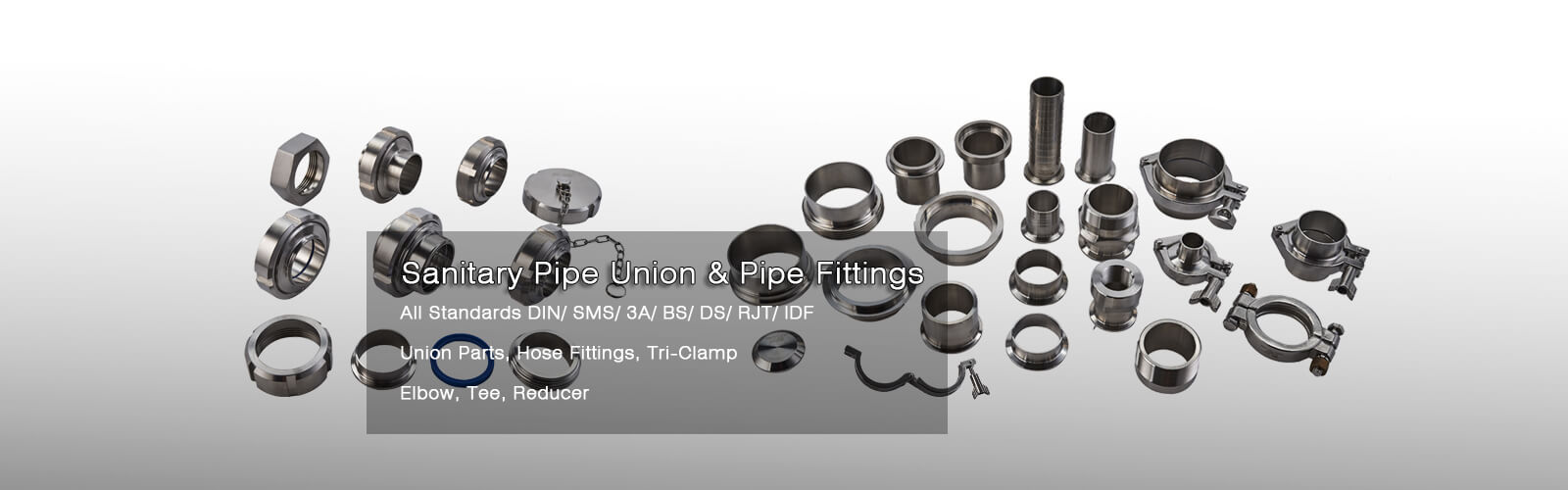 Sanitary pipe union & pipe fittings