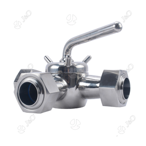 Sanitary Stainless Steel Three Way Plug Valve