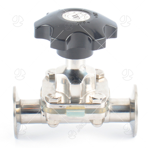 Sanitary Stainless Steel Tri-Clamp Aseptic Manual Diaphragm Valve