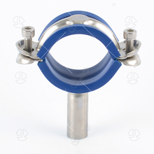 SS304 SS316L Sanitary Stainless Steel Pipe Holder with Blue Insert TH6