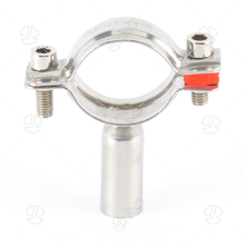 Sanitary SS304 SS316L Double Pin Pipe Holder with Weld End