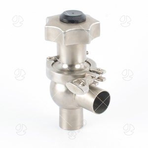 Sanitary Stainless Steel L Type Manual Welded End Divert Valve