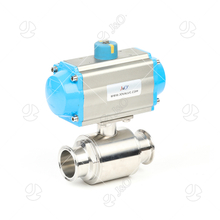 Sanitary Stainless Steel Pneumatic Tri Clamp Direct Way Ball Valve